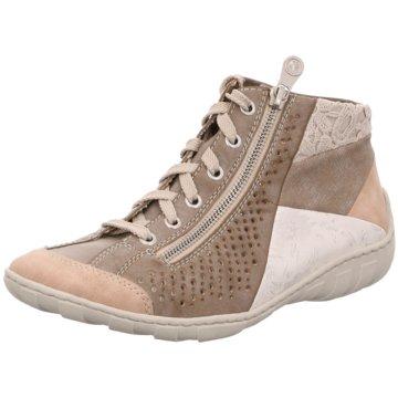 Rieker Komfort SchnürschuhSneaker grau