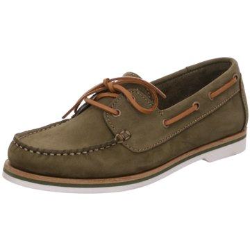 Tamaris BootsschuhSneaker grün