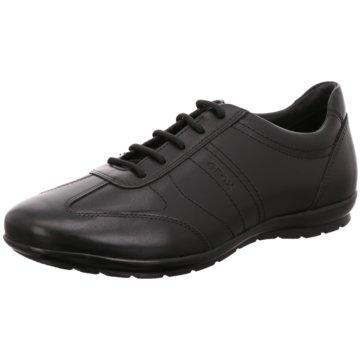Geox Sportlicher SchnürschuhSneaker schwarz