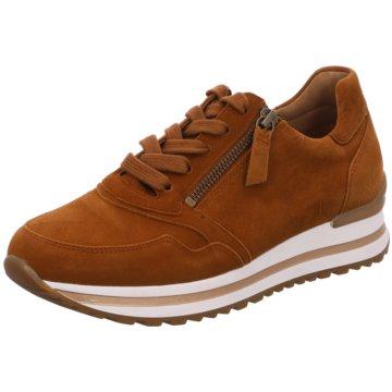 Gabor comfort Sportlicher SchnürschuhSneaker braun