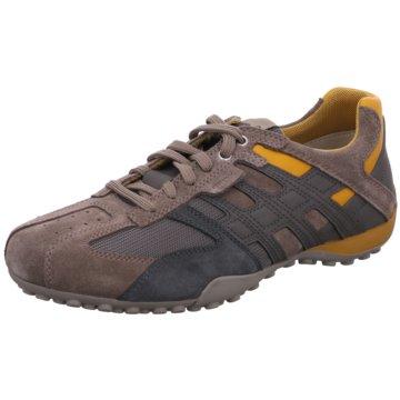 Geox Komfort SchnürschuhSneaker grau