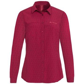 VAUDE LangarmblusenWomen's Rosemoor LS Shirt rot