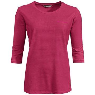 VAUDE LangarmshirtWomen's Skomer 3/4 T-Shirt rot
