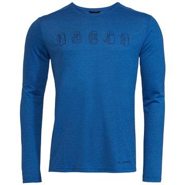 VAUDE LangarmshirtMen's Rosemoor LS T-Shirt II blau