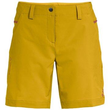 VAUDE kurze SporthosenWomen's Skomer Shorts III gelb
