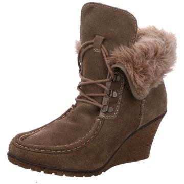 SPM Shoes & Boots Keilstiefelette grau
