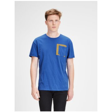 Jack & Jones T-Shirts basic blau