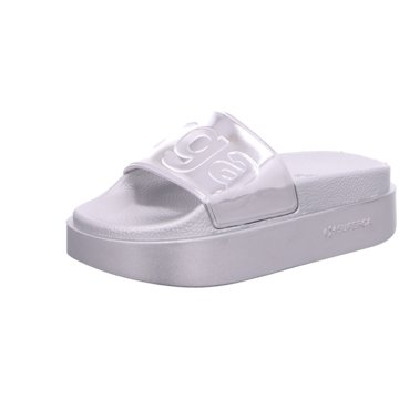 Superga Pool Slides silber