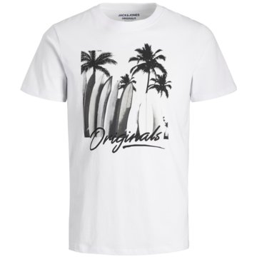 Jack & Jones T-Shirts print weiß