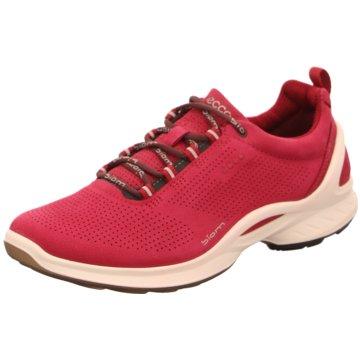 Ecco Sportlicher Schnürschuh pink