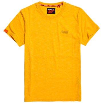 Superdry T-Shirts basic gelb