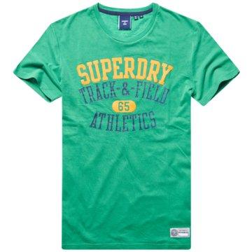 Superdry T-Shirts basic grün