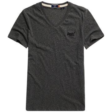 Superdry T-Shirts basic schwarz