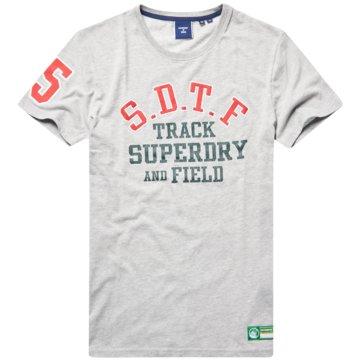 Superdry T-Shirts basic weiß