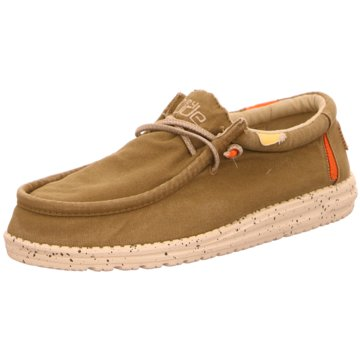 Hey Dude Shoes Mokassin SchnürschuhWally Washed oliv