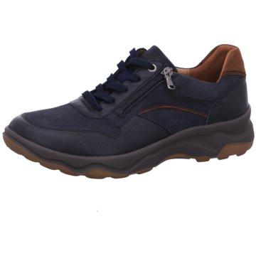 Waldläufer Sportlicher Schnürschuh blau