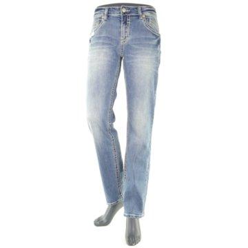 Blue Monkey Straight Leg blau