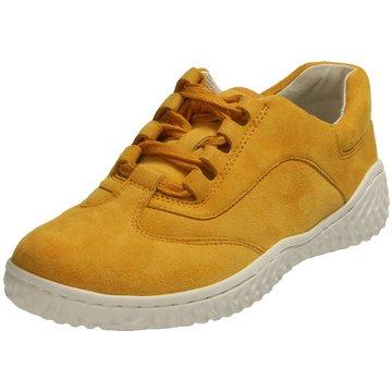Gabor Komfort Schnürschuh gelb
