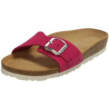 Rohde Klassische Pantolette pink