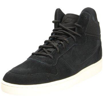 Nike Sneaker LowCourt Borough Mid Premium Herren Freizeitschuhe schwarz schwarz