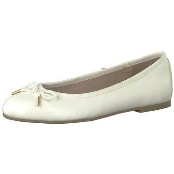 Tamaris Klassischer Ballerina weiß