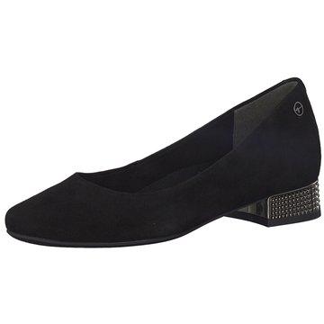 Tamaris schwarze flache Schuhe