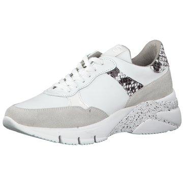 tamaris sneaker weiß coral