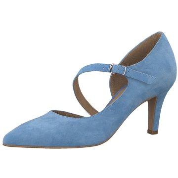 Tamaris Riemchenpumps blau