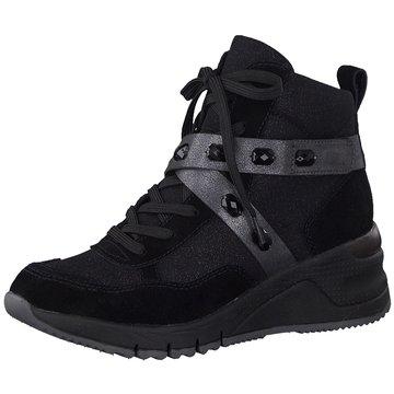 Tamaris Sneaker Wedges schwarz