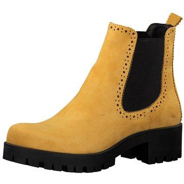 schwarze stiefel damen mit gelber schlaufe