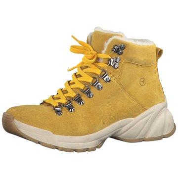 Tamaris Komfort Stiefelette gelb