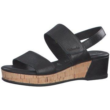Tamaris Plateau SandaletteDa.-Sandalette schwarz
