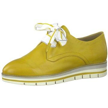 Marco Tozzi Komfort Schnürschuh gelb