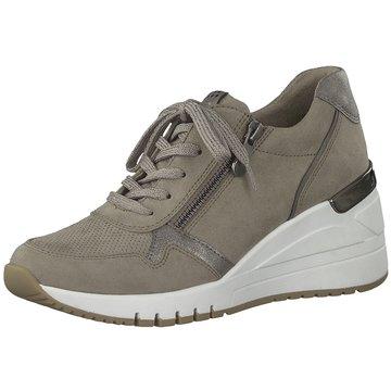 Marco Tozzi Sneaker Wedges beige