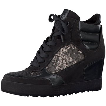 Marco Tozzi Sneaker Wedges grau