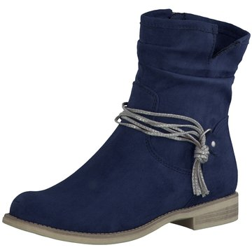 Marco Tozzi Klassische Stiefelette blau