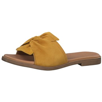 Marco Tozzi Klassische Pantolette gelb