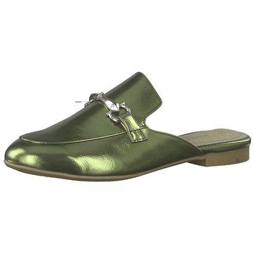 Marco Tozzi Mules Pantoletten grün