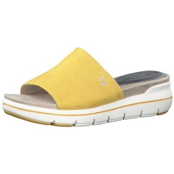 Marco Tozzi Komfort Pantolette gelb