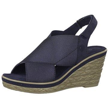 Marco Tozzi Espadrilles Sandalen blau