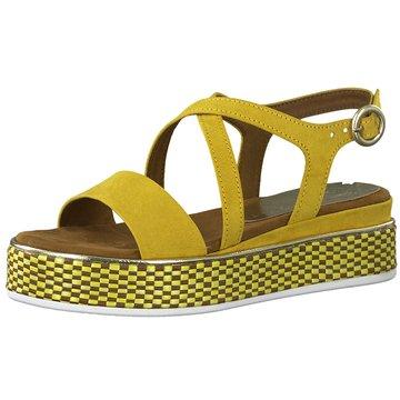 Marco Tozzi Plateau Sandalette gelb