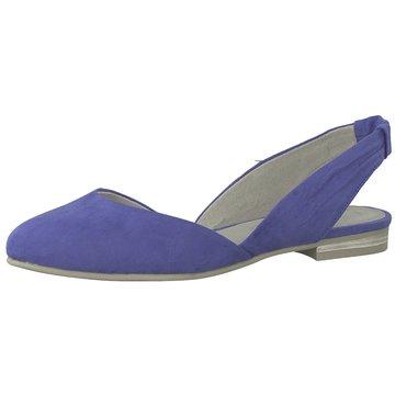 Marco Tozzi Sling Ballerina blau