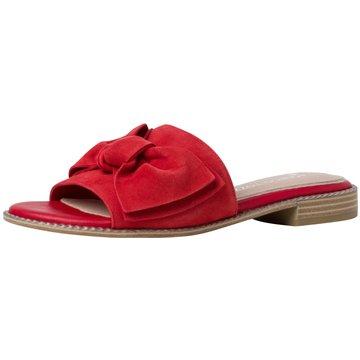 Marco Tozzi Klassische Pantolette rot