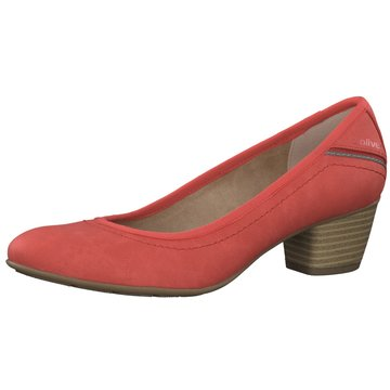 s.Oliver Flacher Pumps rot