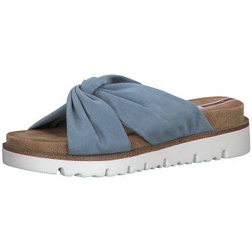 s.Oliver Plateau Pantolette blau