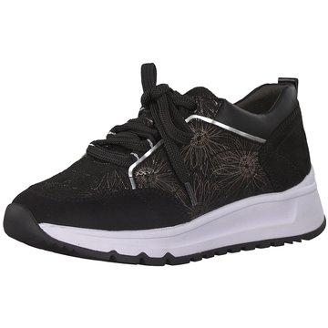 Soft Line Sportlicher Schnürschuh schwarz