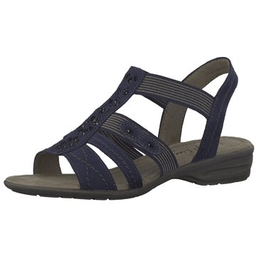 Jana Komfort Sandale blau