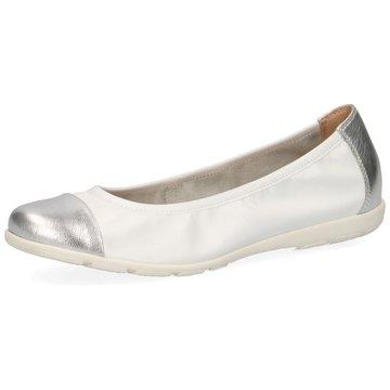 Caprice Eleganter Ballerina weiß