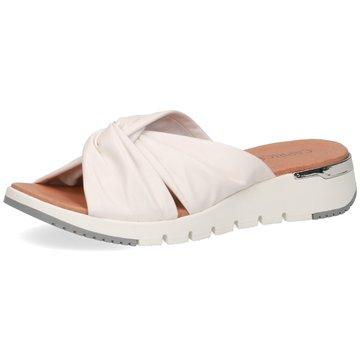 Caprice Komfort Pantolette weiß