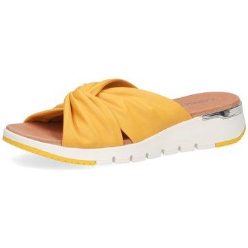 Caprice Komfort Pantolette gelb